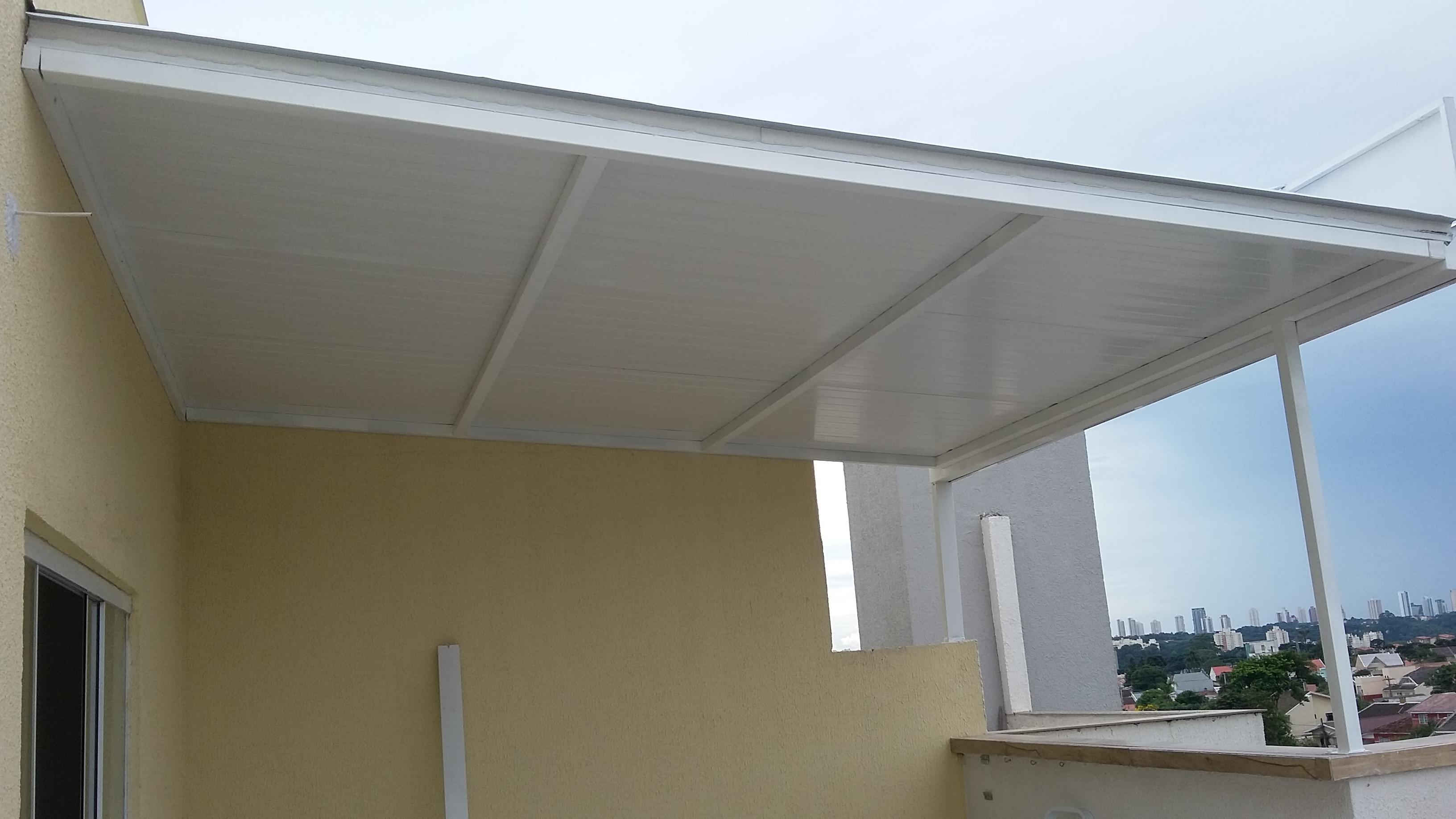 Cobertura telha termo acústica com forro